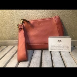 Coach Bags - Coach, pink leather wristlet